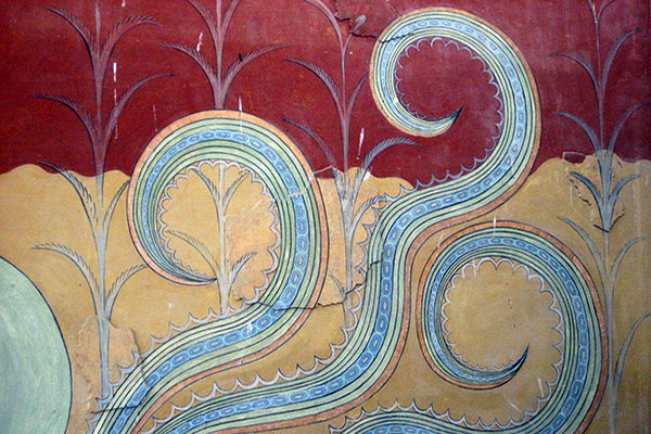 Heraklion, Crete, Greece - Knossos Palace - Frescoe